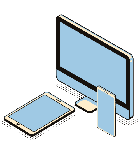 different size screens for different devices